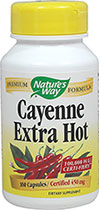 Cayenne Extra Hot 450 mg 100,000 HU