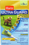 Ultra Guard Pro Flea & Tick Drops for Cats <strong></strong><p><strong>From the Manufacturer:</strong></p><p>The Pro-cision Flo® applicator (patent pending) easily penetrates the fur for improved application directly to your cat's skin. Hartz® UltraGuard Pro® Flea & Tick Drops for Cats is a monthly treatment that kills fleas, deer ticks and mosquitoes plus kills flea eggs and larvae to prevent future infestations for up to