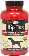 "Hip Flex Joint Level 3 Advanced with Tart Cherry <p><strong>From the Manufacturer:</strong></p><p style=""margin-bottom:0px;padding-right:0px;padding-left:0px;color:#333333;font-family:Helvetica, Arial, sans-serif;line-height:14px;"">Overby Farm Hip Flex Tabs - Level 3 Joint Care with Tart Cherries is formulated to provide dogs in need of advanced joint care such as senior pets and those recovering from joint related surgery. Contains Glucosamine, MSM, Chond"