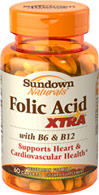 Folic Acid Xtra® with Vitamin B-6 & B-12