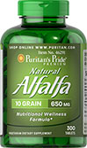 Natural Alfalfa 650 mg