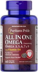 All In One Omega 3, 5, 6, 7 & 9 with Vitamin D3