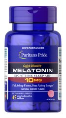 Quick Dissolve Melatonin 10 mg