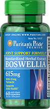 Boswellia Standardized Extract 615mg with Turmeric