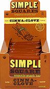 Organic Cinnamon-Clove Simple Squares