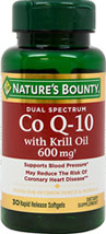 Dual Spectrum Co Q-10  with Krill Oil 600 mg