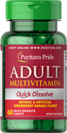 Adult Multivitamin Quick Dissolve Strawberry Banana