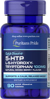 5-HTP 100mg Quick Dissolve Tablets (Griffonia Simplicifolia)