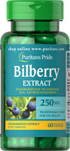 Bilberry Standardized Extract 250 mg