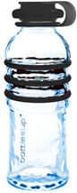 Black 16-Ounce Glass Water Bottle