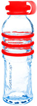 Red 16-Ounce Glass Water Bottle