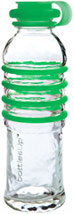 Green 22-Ounce Glass Water Bottle