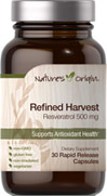Refined Harvest Resveratrol 500 mg