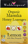 Organic Manuka Honey Lozenges Lemon with Bee Propolis Active 15+