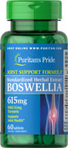 Boswellia Standardized Extract 615 mg with Turmeric 15 mg