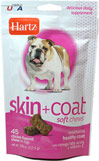 Chicken Flavored Skin and Coat Soft Chews for Dogs