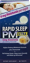 Rapid Sleep PM® Extra with Melatonin 6 mg, Chamomile, Passion Flower