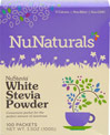 White Stevia Extract Powder Non-Bitter <p><strong>From the Manufacturer's Label</strong></p><p>White Stevia Non Bitter Powder is manufactured by NuNaturals.</p> 100 Packets