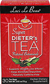 "Super Dieter's Tea® - Original <p><b>From the Manufacturer's Label: </p></b><p>Supports weight loss efforts</p><p>Helps eliminates impurities</p><p>Naturally caffeine free</p><p>Laci Le Beau® Super Dieter's Tea® Dieting can be difficult. But it can also be satisfying, especially with the help of this flavorful, all natural Super Dieter's Tea. Laci says, ""My teas have helped a lot of my friends succeed. They'"