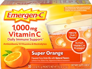 "Emergen-C Packets - Super Orange <p><strong>From the Manufacturer's Label: </strong></p><p>Flavored Fizzy Drink Mix - 30 Packets</p>The powerful blend of Vitamin C, 24 nutrients, 7 B Vitamins, antioxidants and electrolytes supports your immune system, increases your metabolic function, and enhances your energy level to help really feel ""the good!""**<p></p> 30 Packets  $10.49"