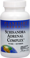 Schizandra Adrenal Complex <p><b>From the Manufacturer's Label:</b></p> <p>Schizandra Adrenal Complex is manufactured by Planetary Hebals.</p> 120 Tablets  $9.29