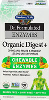 Dr. Formulated Organic Digest + Chewable Enzymes Tropical Fruit