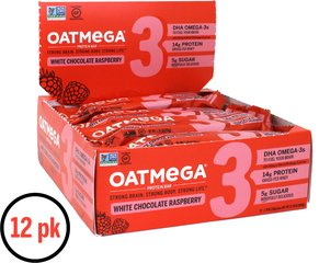 White Chocolate Raspberry OATMEGA Bar