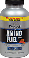 Amino Fuel <p><b>From the Manufacturer's Label: </p></b><p>From Package Label:</p><p>New and improved with 25% more protein in the same size tablet.</p>   250 Tablets 1000 mg $14.99