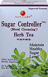 Sugar Controller Herb Tea <p><b>From the Manufacturer's Label: </p></b><p>This herb tea is made of mulberry leaf and other precious herbs with a nice natural flavor.  They contain pectin, adenine, choline, rutin, vitamins B-1 and A, etc.  Mulberry leaf is used in Chinese medicine for maintaining normal blood sugar and blood fat level, urine sugar level and facilitating easy bowel movement.</p><p>Manufactured by Health King</p>  20 Tea Bags  $5.