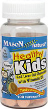 Healthy Kids Cod Liver Oil Chewable with Vit D
