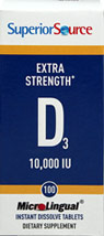 Extra Strength Vitamin D-3 10,000 IU Instant Dissolve Tablets