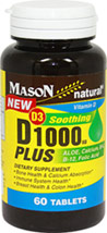 D3 1000 Plus Aloe, Calcium, B-6, B-12, Folic Acid