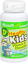 Healthy Kids Chewable Vitamin D <p><strong>From the Manufacturer's label:</strong></p><p><strong></strong>Healthy Kids Vitamin D3 Chewable! Tasty Vanilla flavor. </p><p></p><p>Pediatricians group now recommends 400 IU of Vitamin D Daily for Children.</p> 60 Chewables 400 IU $6.99