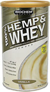 Hemp & Whey Protein Vanilla <p><b>From the Manufacturer's Label:</b></p>  <p>Contains 100% pure Ultra-Filtered/Micro-Filtered (UF/MF) Whey Protein Isolate.  The Micro-Filtration method isolates the natural whey proteins in a highly concentrated form without fat.  This process leaves 99% of the peptides undamaged and undenatured.  Hemp, Fig and Inulin provide dietary fiber for digestive support.* *Hemp is a valuable source of amino acid-rich complete protein.<