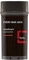 Every Man Jack® Cedarwood Deodorant Aluminum Free <p><b>From the Manufacturer's Label:</b></p> <p><b>Cedarwood</b></p> <p><b>Aluminum Free</b></p>  <p>WILL THIS MAKE ME A WINNER? Just by a nose. Our naturally derived deodorant provides long lasting odor protection and helps absorb sweat and moisture. All without the use of aluminum or other harsh chemicals, leaving you feeling and smelling fresh and clean. Ahh.&lt