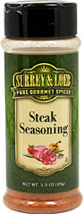 Steak Seasoning <p>Surrey & Loeb's blend of spicy and sweet accents make this a delectable all-in-one seasoning for steaks and burgers</p> 3.3 oz Bottle  $4.24