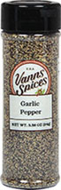 Garlic Pepper <p>Our Surrey & Loeb in-house brand of Garlic Pepper is a favorite seasoning of busy cooks everywhere – it fits the bill whenever your recipe calls for both garlic and pepper. Delicious and distinct garlic combined with the sharpness of pepper – equals a mountain of flavor and as an added bonus—no salt!</p> 3.9 oz Powder