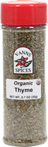 Organic Thyme <b><p> From the Manufacturer:</b></p> <p>Well known to the Greeks, thyme is vital to French cuisine. We buy thyme from Spain where it is grown in the rocky terrain of the mountains.</p>  0.7 oz Other  $7.49