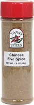 Chinese Five Spice <b><p> From the Manufacturer:</b></p> <p>This ancient spice, once used to create perfumes and potions, is used widely today to enhance savory dishes.</p>  1.8 oz Other  $9.99