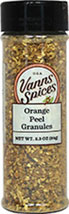 Orange Peel Granules <b><p> From the Manufacturer:</b></p>  <p>Use these dried orange peel granules for a concentrated orange flavor anywhere a burst of citrus would be needed.</p>  2.3 oz Granules  $7.99