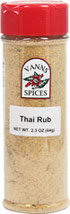 Thai Rub <b><p> From the Manufacturer:</b></p> <p>With this Thai classic blend, you have the newest flavor favorite in Thai cuisines. Perfect on chicken, fish and pork. Essential to Thai cooking.</p>  2.3 oz Rub  $7.99