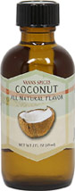 Coconut Flavor Extract <b><p> From the Manufacturer:</b></p><p>The coconut comes from the coconut palm (Cocos nucifera), which is grown primarily in Malaysia as well as Hawaii, the Pacific Islands, and parts of India and South America. Use Coconut Flavor to add tropical boost to frostings, pancake batter, syrups, cookies and candy. Also try a dash in your favorite milkshakes and smoothies for an exotic twist.</p> 2 fl oz Liquid  $7.99