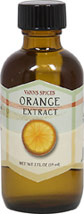 Pure Orange Extract <b><p> From the Manufacturer:</b></p>Orange Extract contains Valencia oranges.  This extract pairs well with chocolate and carrot & squash dishes. Add to sauces, marinades, chutneys and add a drop to jazz up your morning orange juice.    2 fl oz Liquid  $6.99