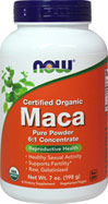 "Maca 6:1 Concentrate Powder <p><b>From the Manufacturer's Label:</b></p>  <p><b>6:1 Concentrate</b></p> <p><b>Naturally Grown</b></p> <p><b>Raw ""Gelatinized"" </b></p> <p><b>100% Vegetarian</b></p>  <p>Maca (Lepidium meyenii) is grown at high elevations in the Andes region of central Peru. It has been used for centuries by indigenous Peruvians as a food source, as well"