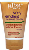 Alba Natural Very Emollient Sunless Tanning Lotion <p><b>From the Manufacturer's Label:</b></p> <p><b>Golden Tanning Without the Sun</b></p> <p><b>Natural Formula</b></p> <p><b>Non-streaking</b></p>  <p>Very emollient and botanically moisturizing natural sunless tanner. Easy to use, non-streaking formula absorbs quickly for a natural-looking tan in less than 3 hours. </p>  <p>Manufac