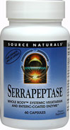 Serrapeptase <strong></strong><p><strong>From the Manufacturer's Label: </strong></p><p>Serrapeptase is Manufactured by Source Naturals.</p> 60 Capsules