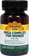 DHEA Complex For Women <p><strong>Fromthe Manufactuer's Label:</strong></p><p>DHEA Complex for Women is manufactured by Country Life.</p> 60 Vegi Caps  $11.39