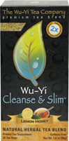 Wu-Yi Cleanse & Slim Lemon Honey Decaf Tea