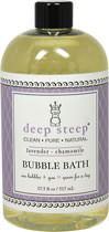 Organic Lavender Chamomile Bubble Bath <strong></strong><p><strong>From the Manufacturer: </strong></p><p>Deep Steep bubble bath combines essential oils, aloe and other organic herbs.</p><p>• Organic, Clean, Pure, Natural</p><p>• Grapefruit Bergamot Bubble Bath</p><p>Deep Steep Bubble Bath does not contain parabens, sodium lauryl sulfate, mineral oil, petroleum, artificial fragrances or chemical preservatives. Products