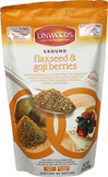 Ground Flaxseed and Goji Berries <b><p>From the Manufacturer's Label:</b></p> <p>Linwood's Ground Flaxseed and Goji Berries are cold-ground to protect the essential fatty acids and all the nutritional goodness contained in the seeds and berries.</p><p>  Ground seeds and berries aid quick and easy absorption onto the body, providing energy and a range of healthy benefits.</p><p>  Add to any meal or snack.</p><p> Try add